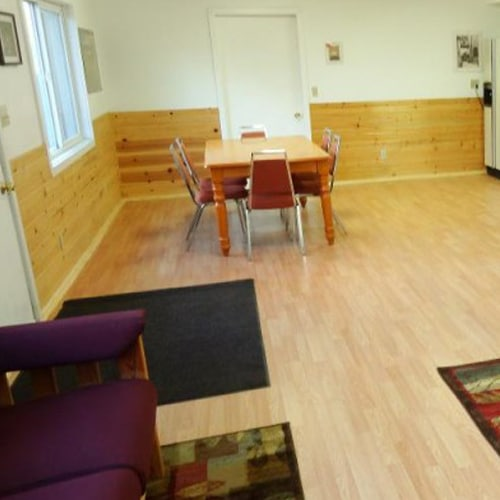 Inside camp living area