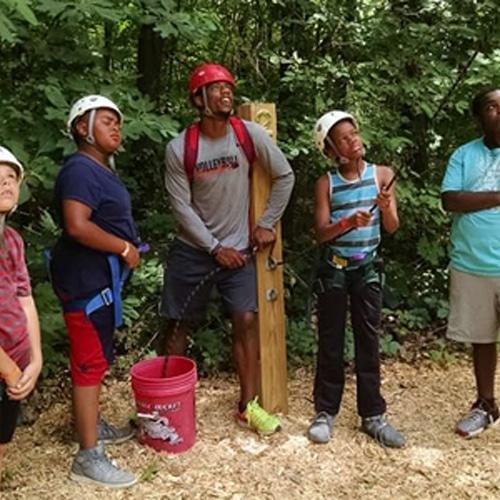 Camp kids zipline