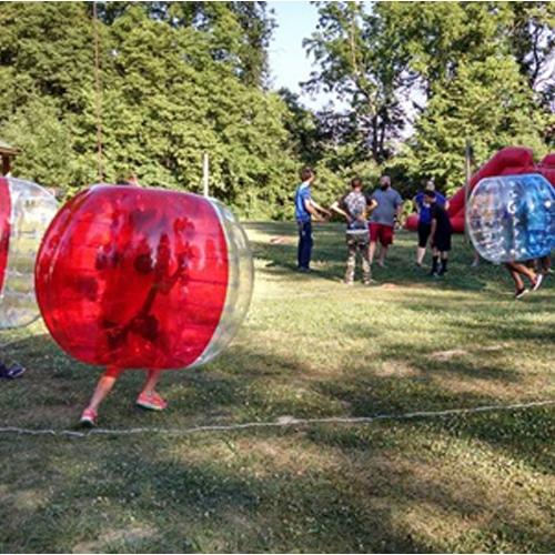 Camp kids playing games